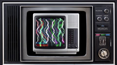 Television and video static distortion Stock Footage