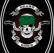Skull Biker Rider Stock Illustration
