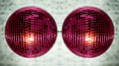 Pink discoball mirrorball party disco glitterball  Stock Footage