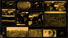 Technology Background in monochrome look with various gizmos Stock Footage