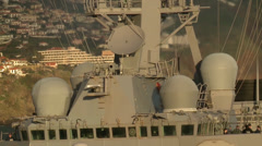 USS Donald Cook - Ballistic Missile Defense Stock Footage