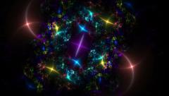 Colorful sparkling lights Stock Footage