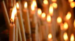 Candles with smoke and wisp - stock footage