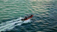 Coast guard in Miami Beach, Florida, USA - stock footage