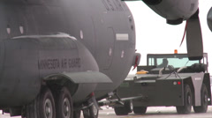 C-130 Hercules, Bitter Cold Winter on the Flightline - stock footage