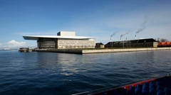 Opera House in Copenhagen Stock Footage