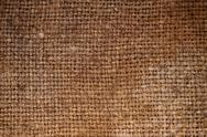 Stock Photo of rectangle from  brown saskcloth background