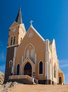 Stock Photo of evangelical lutheran church in luderitz