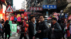 Hong Kong Chinatown Sham Shui Po open market shopping China Asia Stock Footage