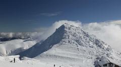 Snow mountain Slovakia ski winter Jasna Europa Stock Footage