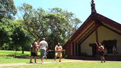 Waitangi Treaty Grounds- marae 05 Stock Footage