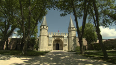 Topkapi Palace in Istanbul, Turkey Stock Footage