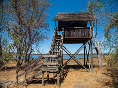 Watch tower near dombo hippo pools Stock Photos