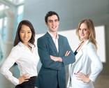 Stock Photo of young diverse business work team