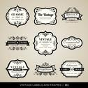 Stock Illustration of vintage labels and frames