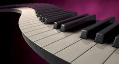 moody curvy piano keys - stock illustration