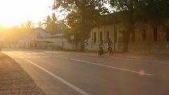 Late afternoon traffic in Jaffna Stock Footage