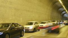 Budapest's Tunel pan time lapse - stock footage