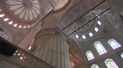 Sultan Ahmed - Blue Mosque, Interior Stock Footage