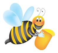 Stock Illustration of Animated Working bee