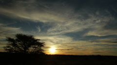Kalahari_Whispy_Sunset Stock Footage