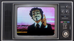 anarchy vendetta mask man - stock footage