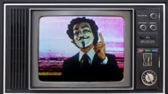 Stock Video Footage of anarchy vendetta mask man