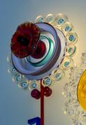 Murano Crystal glass flower Stock Photos
