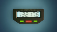 Stock Video Footage of Digital electricity meter showing household consumption.power watt energy KWh