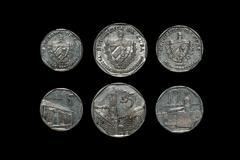 Cuban Coins Stock Photos