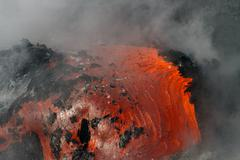 lava flow - stock photo