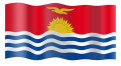 Stock Photo of Flag of Kiribati