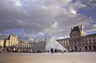 Stock Photo of louvre museum. paris, france.