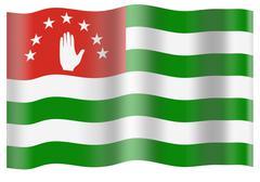 Abkhazia flag - stock photo