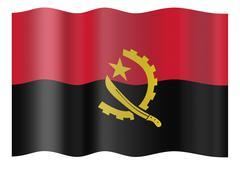 Stock Photo of Flag of Angola