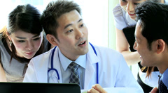 Meeting Ethnic Medical Executives Hospital Doctors Stock Footage