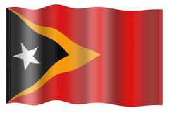 Democratic Republic of Timor-Leste flag - stock photo