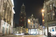 Utrecht St Martin Church Night - stock photo