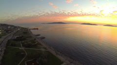 Panning over Maltepe Coastline. Loop Stock Footage
