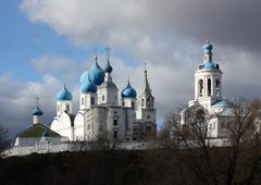 Orthodox monastery in  Bogolubovo. Russia Stock Photos
