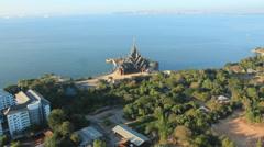 Kherm wood temple Pattaya - stock footage