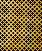 gold metal background with cross black hole - stock photo