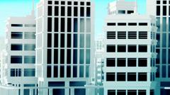 Illuminated Panorama City zone Stock Footage