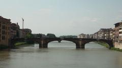 Bridge in front of Ponte Vecchio Stock Footage