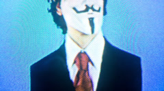 anarchist vendetta masked man - stock footage