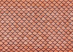 roof tiles of classic buddhist temple - stock photo