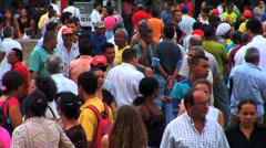 Crowed street people Latin America Rio de Janeiro Brazil Stock Footage