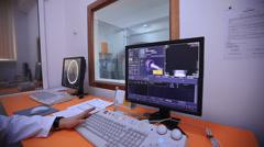 Analysis of the human brain Stock Footage