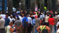 Crowed street people Latin America Rio de Janeiro Brazil - stock footage