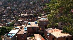 Rooftop homes favela housing poor communities Urban area Rio de Janeiro Stock Footage